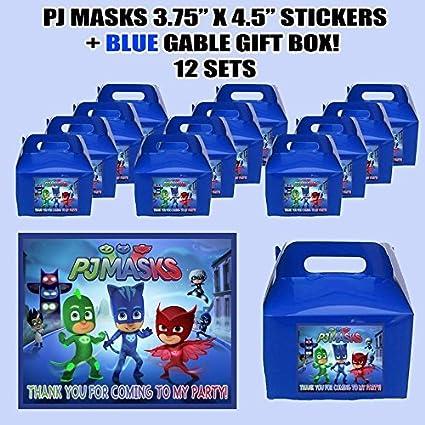 Amazon.com: PJ Máscaras Kids Party Favor cajas con Thank You ...