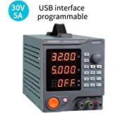 Programmable DC Power Supply (0-30 V 0-5 A) HM305P Variable Switching Digital Power Supply with PC Software and USB…