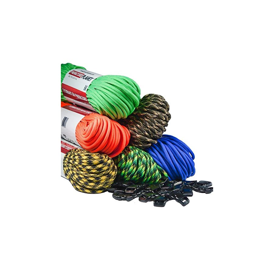 Paracord Planet Type III 7 Strand 550 Paracord Made in the USA Largest In Stock Selection of Paracord Colors