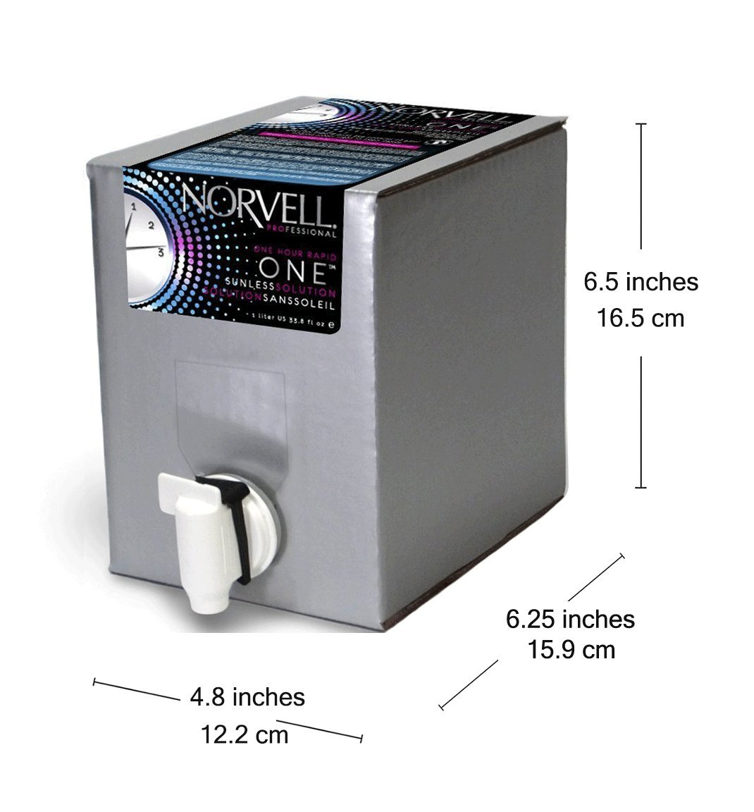 Norvell Premium Sunless Tanning Solution - One Hour Rapid, 1 Liter Box by Norvell (Image #6)