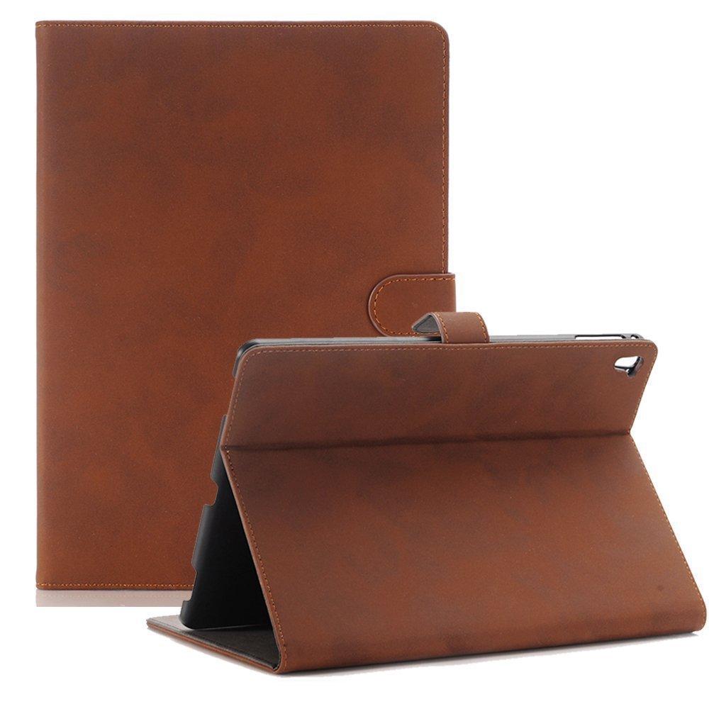 Mini iPad 5 Case 2019 Model, YiMiky Slim Folio Shell Smart Stand Case for 2019 Model iPad Mini 5 Ultra Slim Book Cover Protective Case for 7.9 Inch iPad Mini 5/ iPad Mini 4 2015 - Dark Brown