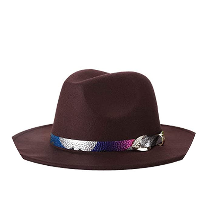 Fashion Wool Womens Wide Brim Jazz Church Cap Vintage Panama Sun Top Hat