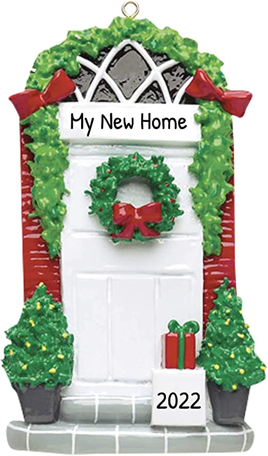 First Home Christmas Ornament 2020 Amazon.com: Personalized Door Christmas Tree Ornament 2020   Our