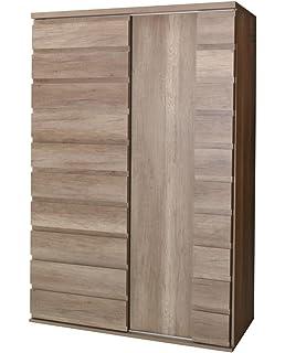 Kleiderschrank Inaco weiß 133x180x50 cm Schrank ...