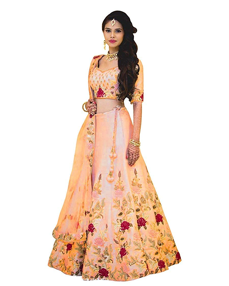 623ad981973b 7 HORSE SELECTION Women's Banglori Silk Embroidered Semi-Stitched Lehenga  Choli (Baby Pink, Free Size): Amazon.in: Clothing & Accessories