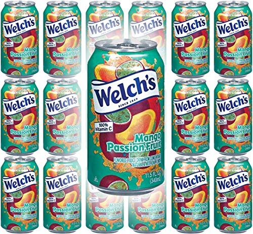 Welch's Mango Passion Fruit, 11.5 Oz (Pack of 18, Total of 207 Oz)