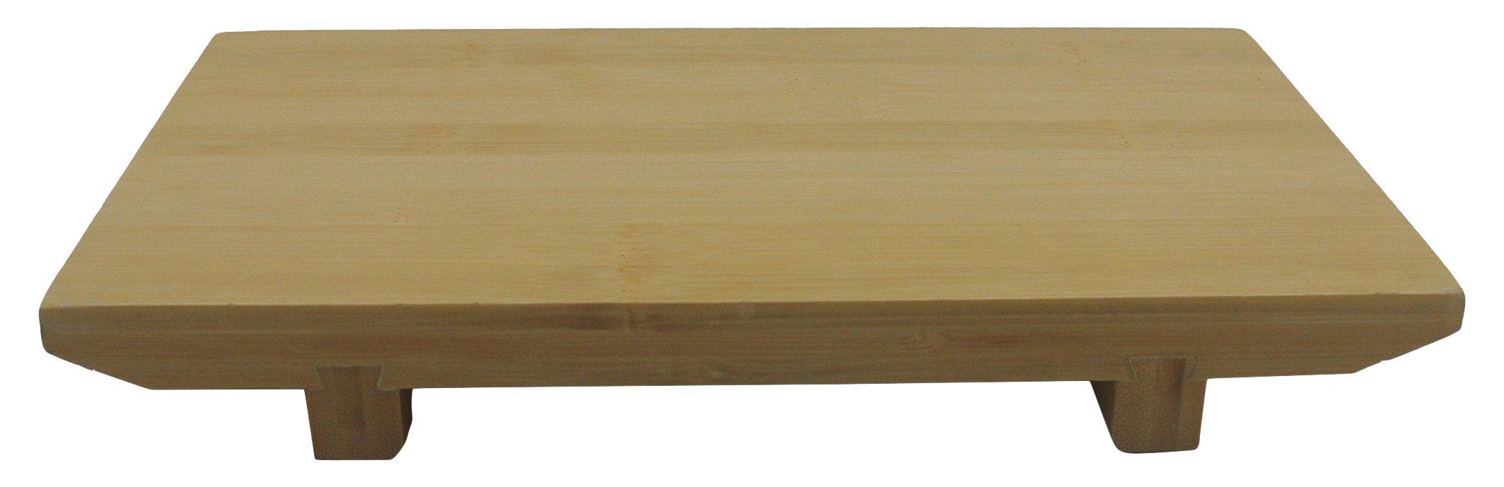JapanBargain S-4090, Bamboo Sushi Geta Serving Plate, 9.75'' L x 6'' W, Large