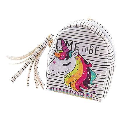 Monedero de Unicornio para Mujer y niña, de Piel sintética ...