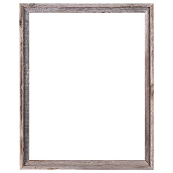 22x28 2 wide signature reclaimed rustic barnwood open frame no glass