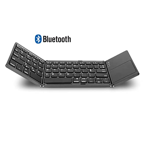 c7411ff6dbb AVATTO MT03 Wireless Foldable Keyboard Bluetooth with Touchpad, USB  Rechargeable, Portable for Tablet,
