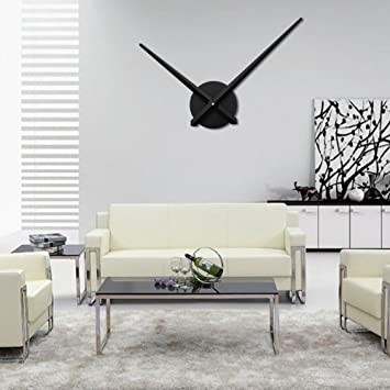 URAQT Moderno Reloj de Pared 3D de Aluminio DIY Alta Calidad Reloj de Pared de Moda para Decoración de Casa, Habitación, Oficina: Amazon.es: Hogar