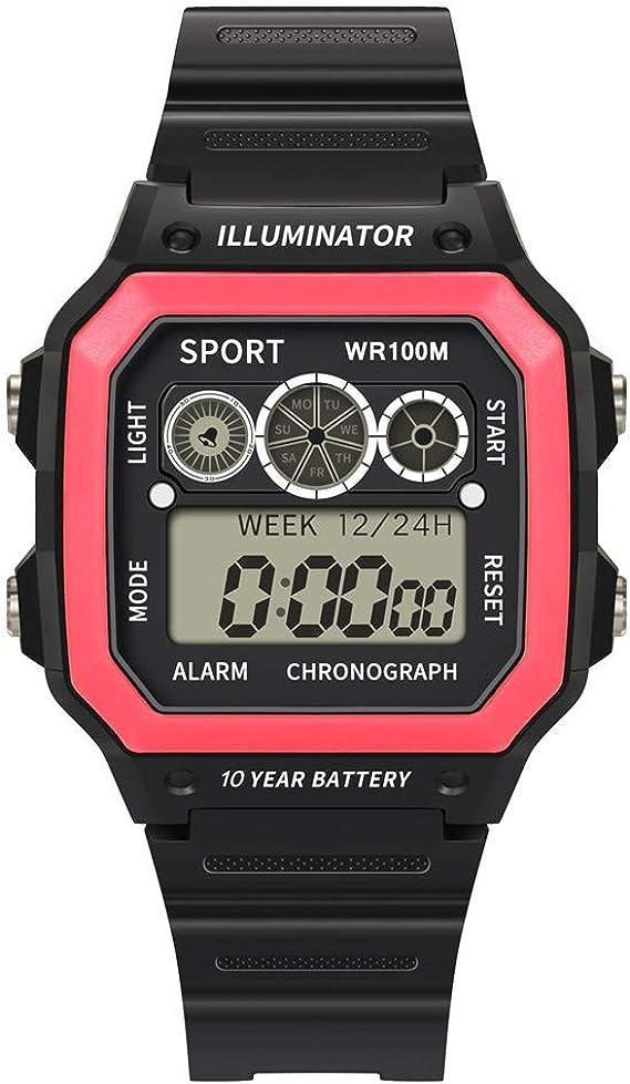 OPAKY Relojes Deportivos para Hombres Analógico Digital Ejército Militar Deporte LED Impermeable Reloj de Pulsera Grandes LED de analógico Relojes de Pulsera Moda: Amazon.es: Relojes