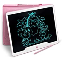 Richgv LCD Writing Tablet, 15 Inch Electronic Doodle Pads Digital Ewriter Graphics Tablets, Portable Ultra Thin Drawing Board for Kids and Adults at Home, School Office Business Handwriting Pad(Pink)