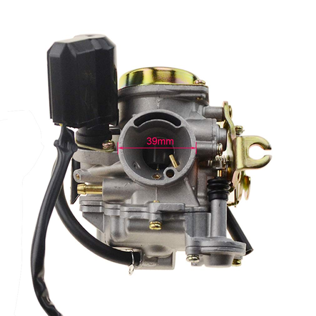 GOOFIT PD18 18mm Carburetor for 4 Stroke GY6 49cc 50cc Chinese Scooter 139QMB Moped for Taotao Kymco Scooter Jonway Baja Jmstar Lance NST Peace Banzer Barton Zipp Romet