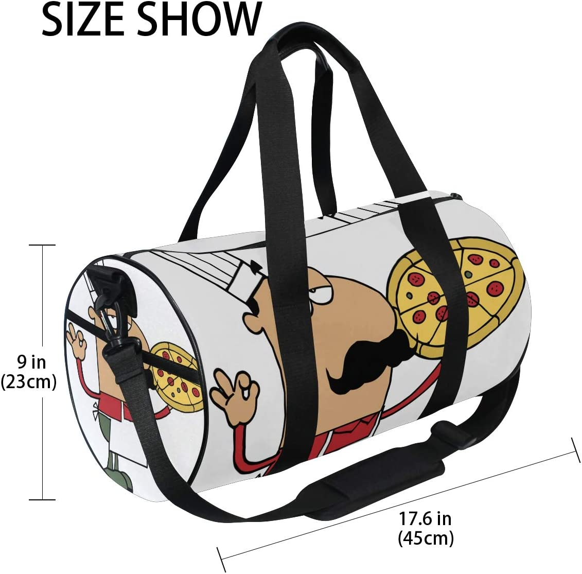 Duffel Bag Whole Pepperoni Pizza Women Garment Gym Tote Bag Best Sports Bag for Boys