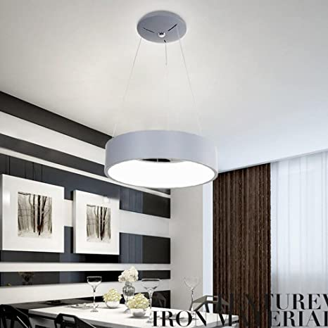 Moderno Elegante 24W LED Colgante de luz Creativo Redondo ...