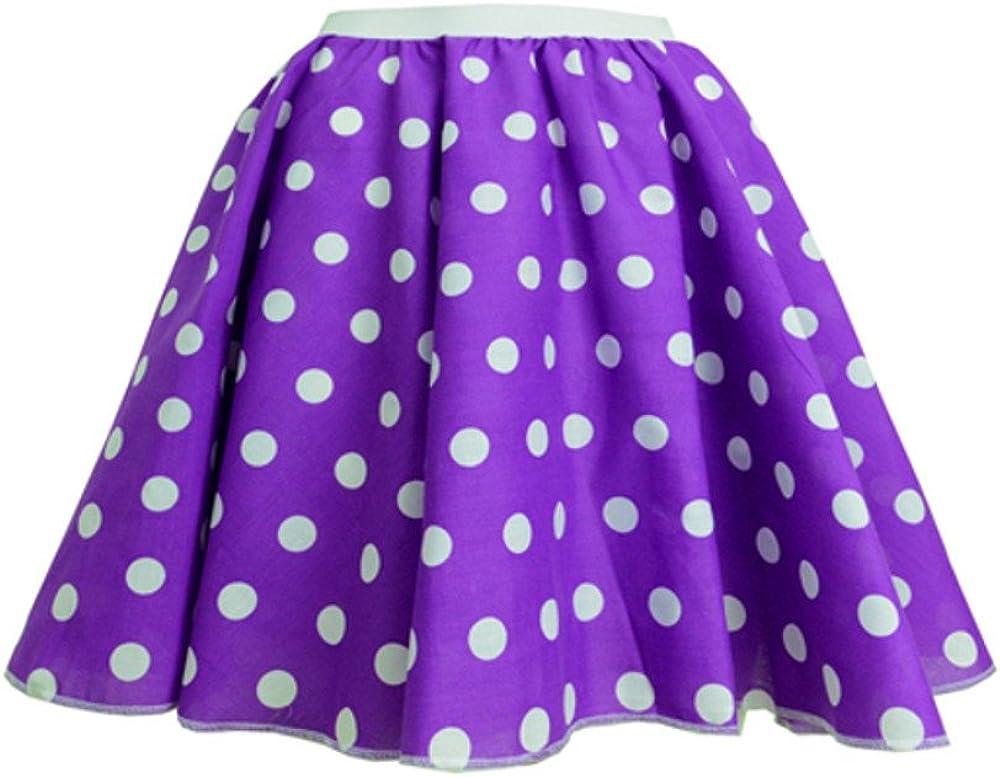 Childrens Polka Dot Skirt Rock n Roll 50s// 60s Style 18 Waist 1-3 yrs , Purple /& White spot