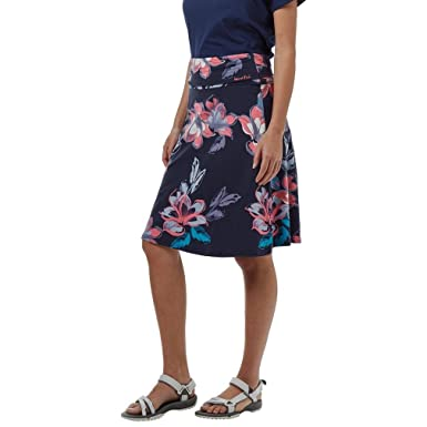 7d1ca73a10 Weird Fish Navy Women's Malmo Floral Jersey Skirt, Navy, 14: Amazon ...
