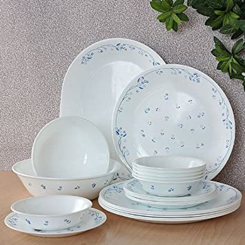 Buy Corelle Essential Provincial Blue Round Dinner Set 21-Pieces Online at Low Prices in India - Amazon.in & Buy Corelle Essential Provincial Blue Round Dinner Set 21-Pieces ...
