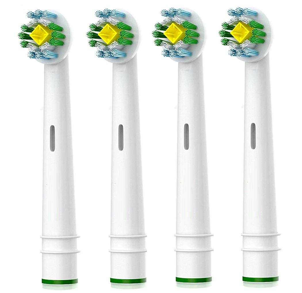 3D White Replacement Brush Heads, Compatible with Oral-B Toothbrush - 4 Pack
