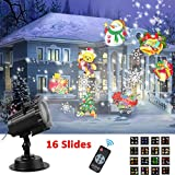 Led Projector Light Holiday Projector CLEVERLOVE 2017 NewestChristmas ProjectorLight Waterproof Outdoor Landscape Lighting Spotlight with 16 Slides Dynamic Lighting Showfor Christmas, Halloween