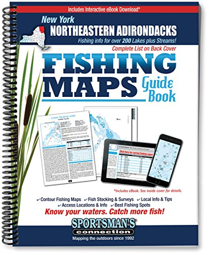 Northeastern Adirondacks New York Fishing Map Guide