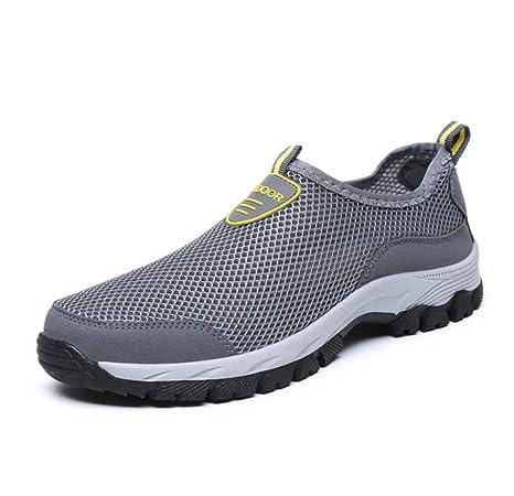 46630d44ed2fb Amazon.com: LUCKY-U Men Hiking Shoes, Breathable Climbing Mountain ...