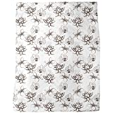 Vintage Exotic Plants Blanket: Large