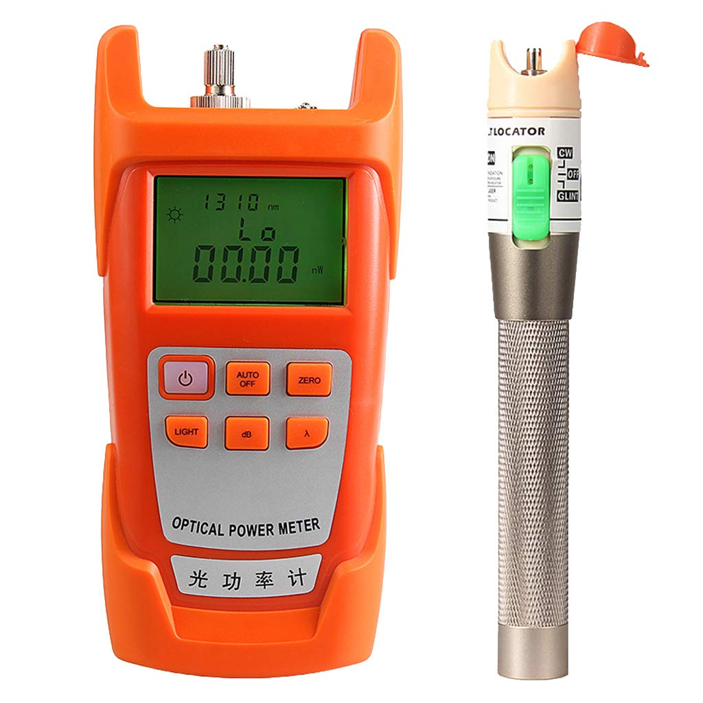 Prettyia AUA-9C Fiber Optic Cable Tester Optical Power Meter with Sc & Fc Connector Fiber Tester + 30mW Visual Fault Locator Equipment for CATV Test,CCTV Test by Prettyia (Image #4)