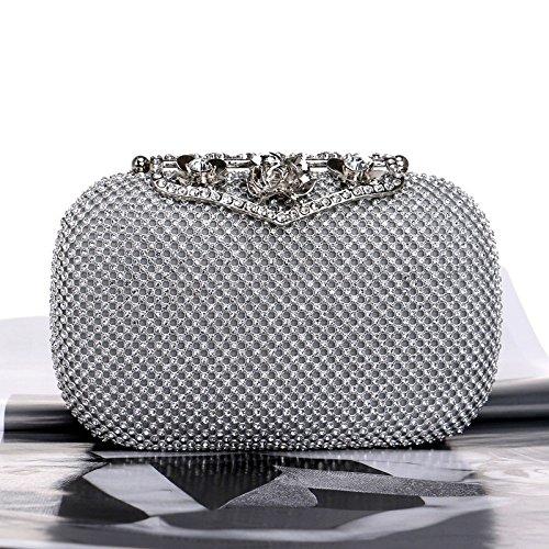 A Women Clutch Dinner YLBA Bag Party Diamond Princess Temperament Marriage Dress Dating Mano Silver Silver Borsa Bag Generoso Nightclub RZAq4y1q