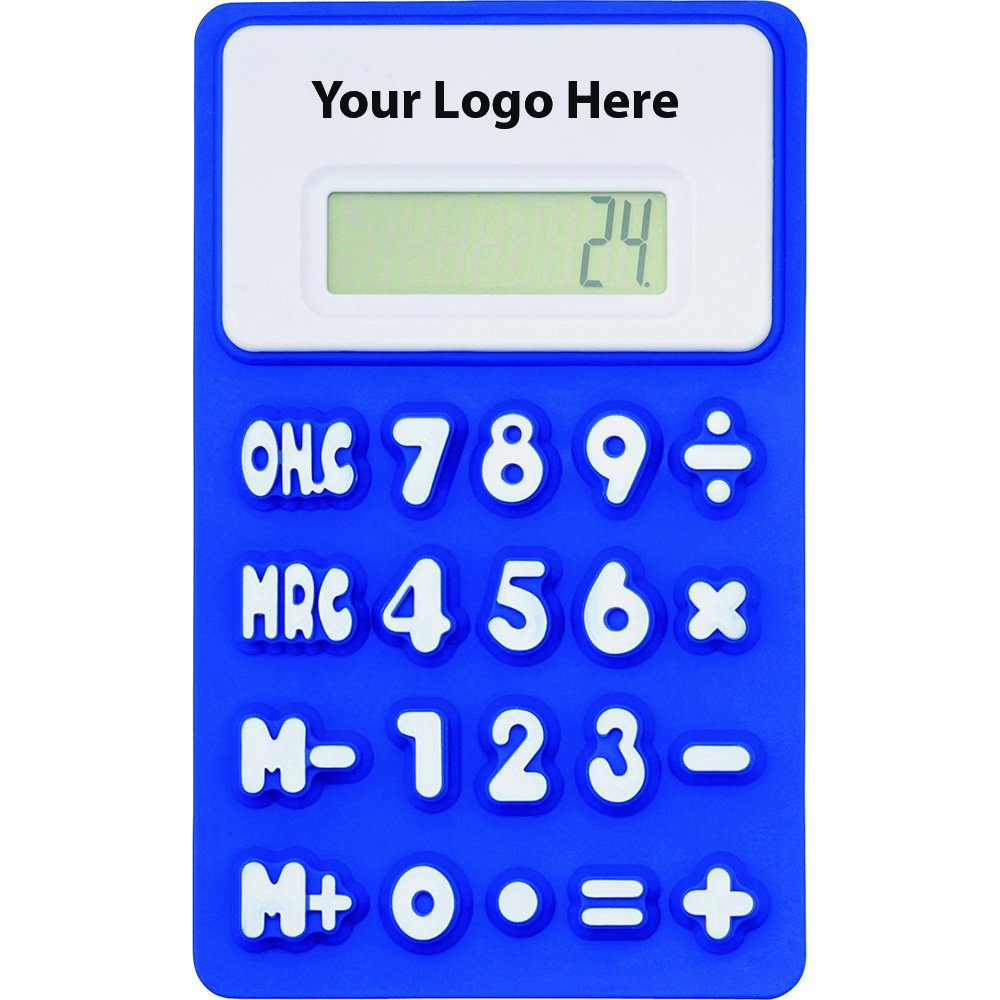 The Flex Calculator - 150 Quantity - $2.90 Each - PROMOTIONAL PRODUCT / BULK / BRANDED with YOUR LOGO / CUSTOMIZED