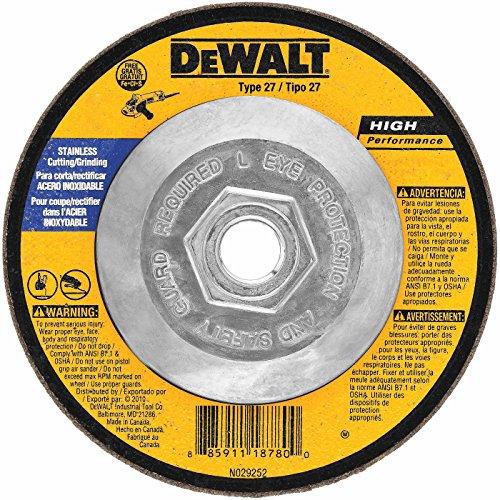 DeWalt DW8415 Stainless Steel Grinding Wheel, 4-1/2 x 1/4 x (Dewalt Stainless Steel Grinding Wheel)