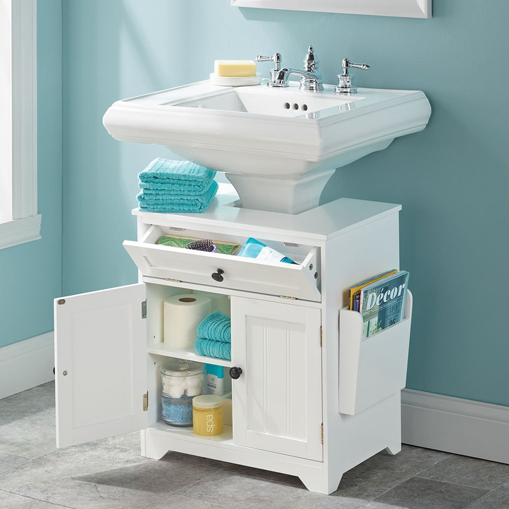 Amazon.com: The Pedestal Sink Storage Cabinet: Kitchen & Dining
