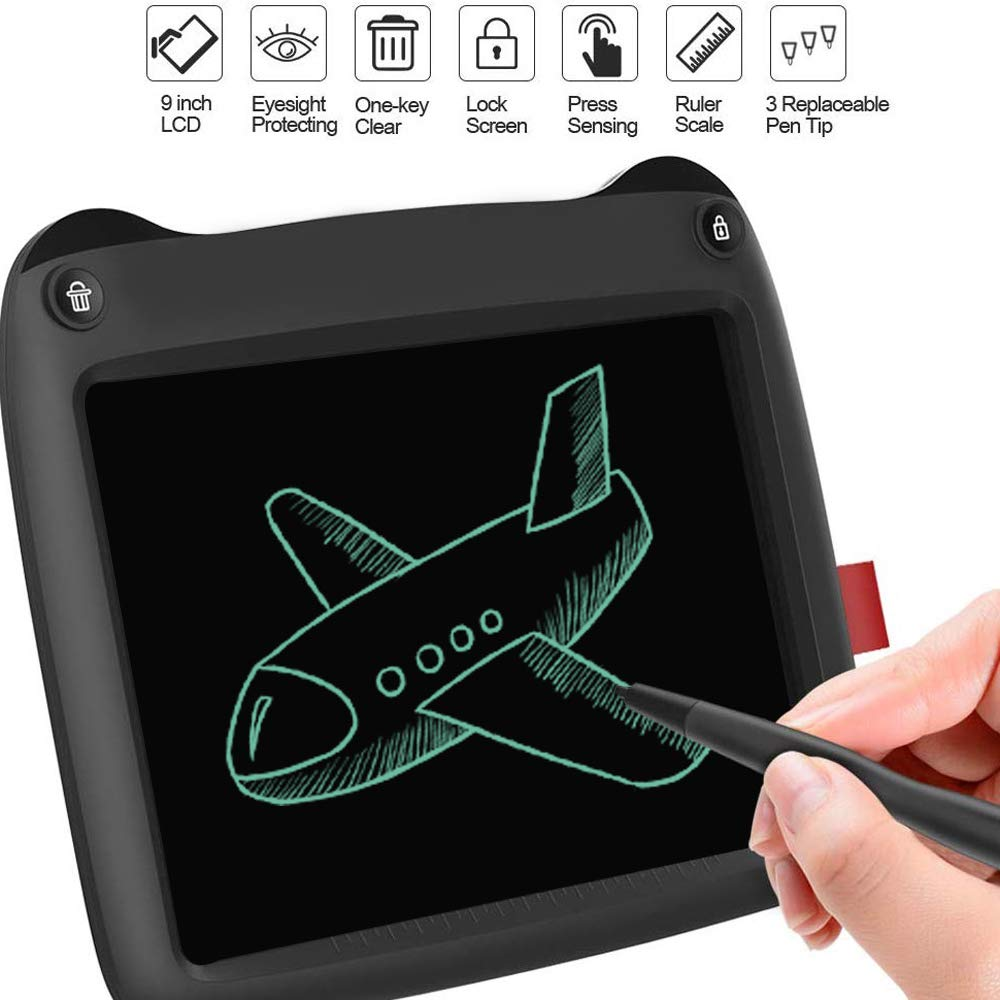 CCOOL 14inch LCD Writing Tablet,Electronic Writing Doodle Digital Drawing Board,with Lock Key Portable Erasable Ewriter,for Kids Home School Office