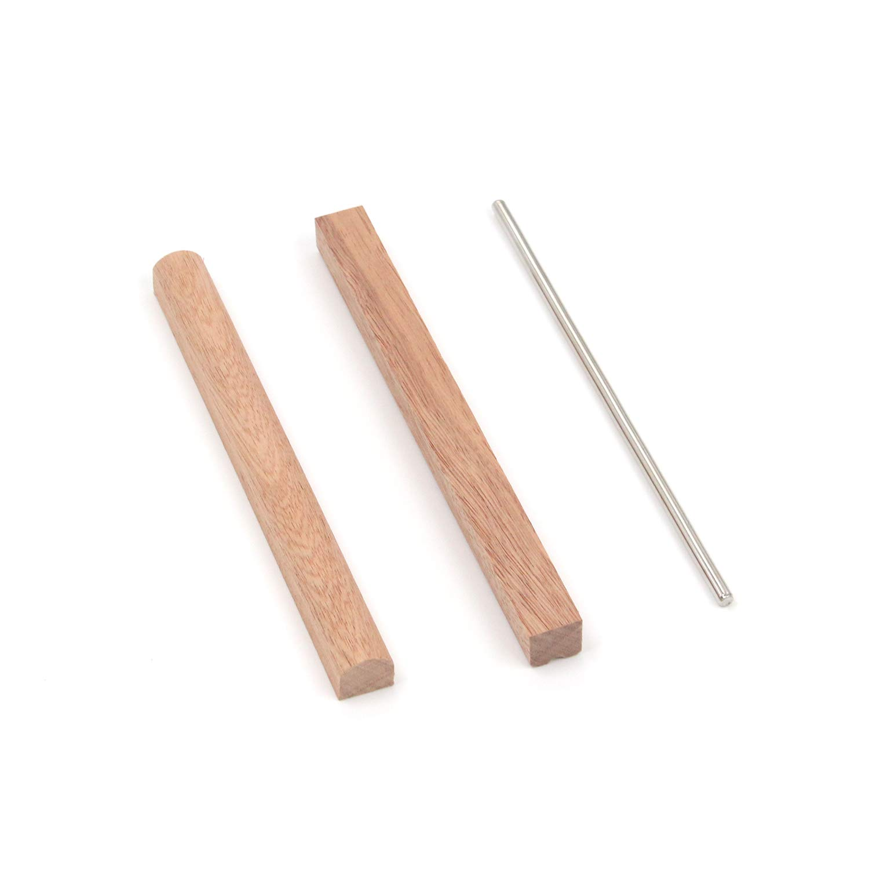 Saddle Tuning Hammer FarBoat Instrument Kalimba 17 Note Keys Manganese Steel with Sapele Mahogany Wood Bridges Replacement Kit DIY Accessories for Thumb Piano Kalimba Screws