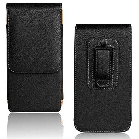 enorme sconto e3122 18c59 Custodia eco pelle NERA cintura verticale fondina per smartphone fino a  5.5