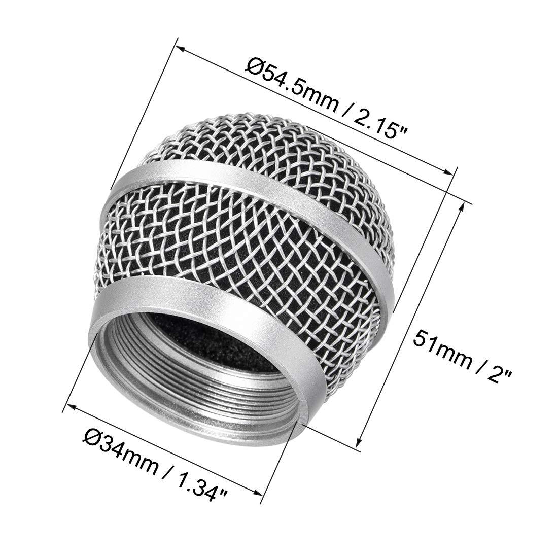 sourcing map 2uds Cabeza de Rejilla de Malla de Bola de micr/ófono para PG48 PG58 PGX2 BLX288 PG288 PGX24