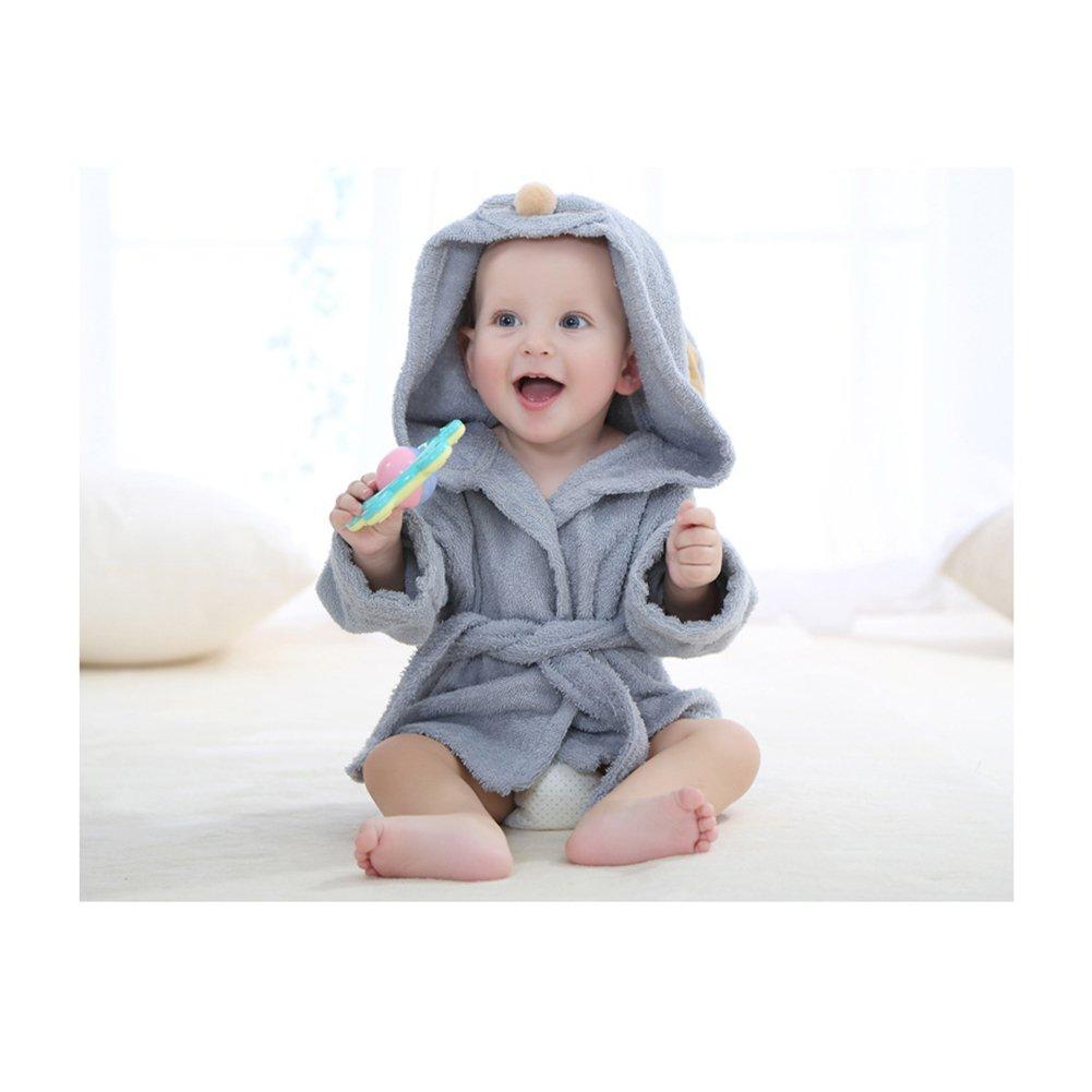 Premium Cotton Plush Bathrobe Clothes Super Soft Pajamas Sleepwear Kissababy Baby Bath Towel 0-12 Months