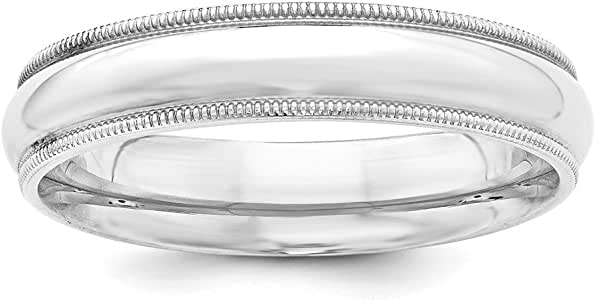 Amazon.com: Wedding Bands USA Sterling Silver 5mm