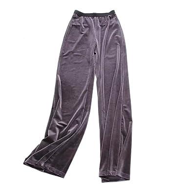 WanYang Pantaloni Casuali Larghi delle Donne Pantaloni in Cashmere in Pelle   Amazon.it  Abbigliamento bfb35e1e953