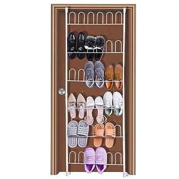 a599cc5e3554e hblife Support Chaussures Porte Blanc 18 Paires Rangement Chaussure à Suspendre  Organisateur Mural