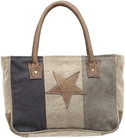 Amazon.com: Myra estrella en upcycled bolsas de lona bolso ...