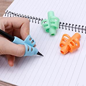 Two-Finger Grip Silicone Baby Learning Writing Tool Kid Writing Pen Holder Cute