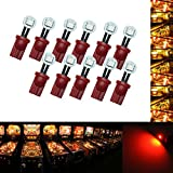 PA 10PCS #555 T10 1SMD LED Wedge Pinball Machine Light Side View Bulb Red-6.3V