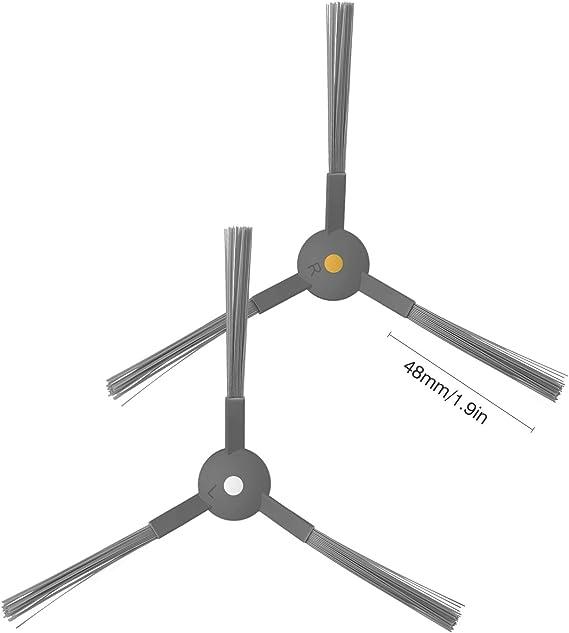 ZIGLINT Las piezas de recambio para el obot aspirador Ziglint D5, accesorios incluyen 2 filtros HEPA, 2 filtros de esponja, 4 cepillos laterales, 1 cepillo rodante: Amazon.es: Hogar