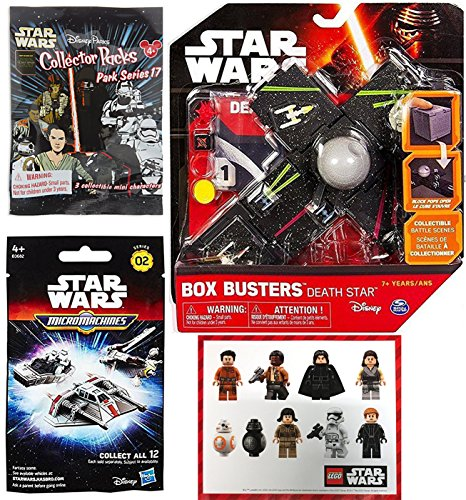 Star Wars The Force Awakens Micro Machines Blind Bag Pack + Disney Parks Collector Packs Mini Figures & Box Busters Battle Yavin X-Wing & Tie-Fighter Mini Spaceship Set Action Play Pack