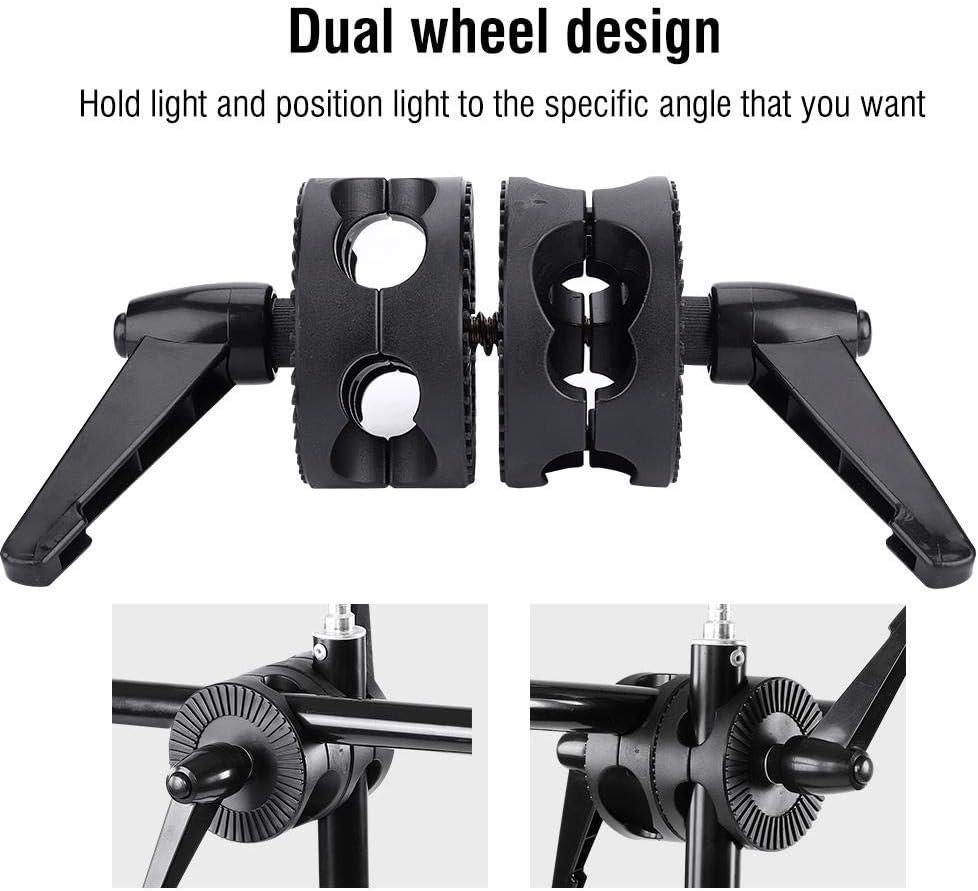 Pomya Doppelrad-Reflektorhalterung f/ür Fotografie tragbares Anpassungs-Rotator-St/ützlichtstativ-Adapter-Fotografie-Zubeh/ör f/ür Fotografie