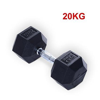 Homcom de goma mancuernas pesas cuerpo destornillador de gimnasio en casa ejercicio entrenamiento Fitness formación levantamiento