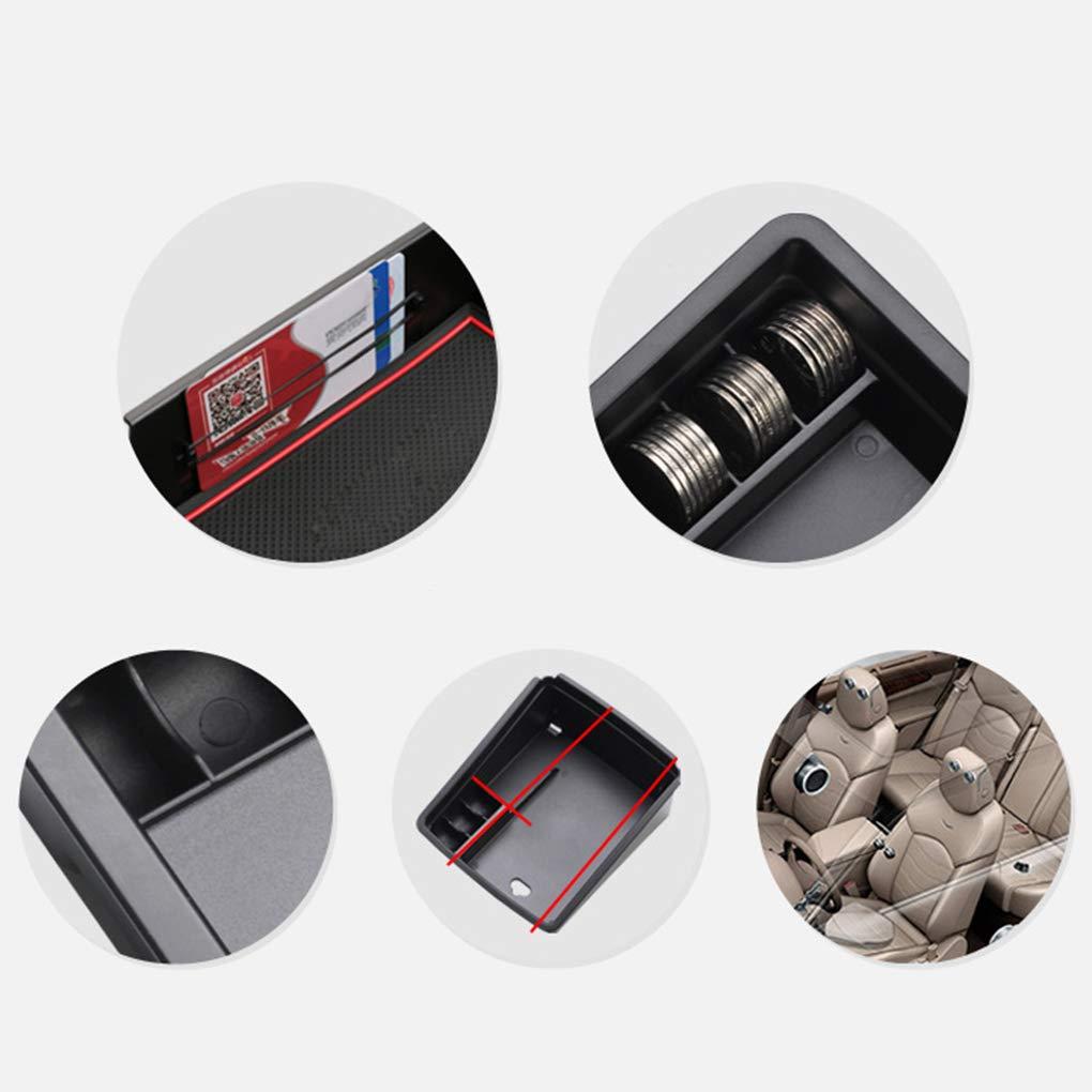 Kongnijiwa Reemplazo para Volvo XC60 S60 V60 2009-2017 Consola Central apoyabrazos Estiba Caja movible del Organizador del almacenaje de la Bandeja de palets