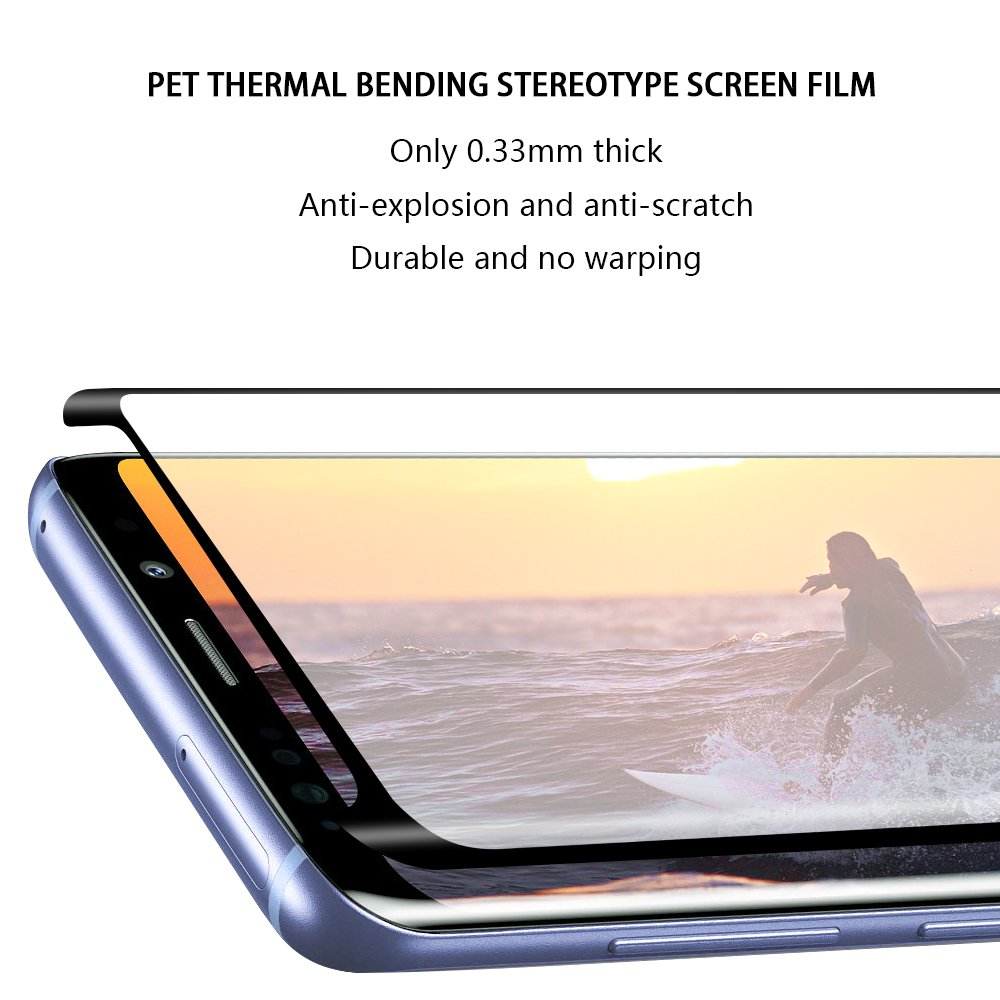 Galaxy S9 Screen Protector, WengTech 3D Curved 9H Hardness Bubble Free Case Friendly Ultra-clear Tempered Glass Screen Protector Film for Samsung Galaxy S9 (2 Pack)